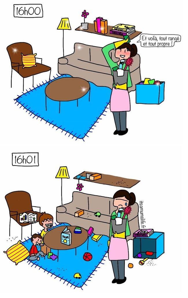 a quoi a sert de faire le m nage quand on a des enfants en fait mum 39 s life pinterest. Black Bedroom Furniture Sets. Home Design Ideas