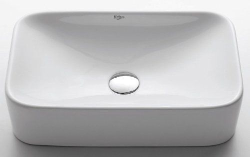 Kraus Kcv 122 White Rectangular Ceramic Bathroom Sink Read More Reviews Of The Product By