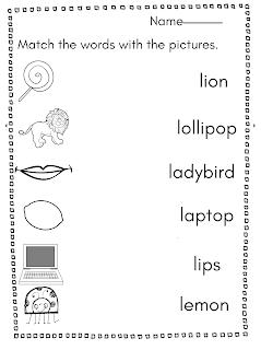 8 أنشطة اوراق عمل للحروف الانجليزية للاطفال Letter L Words Lettering Letter L