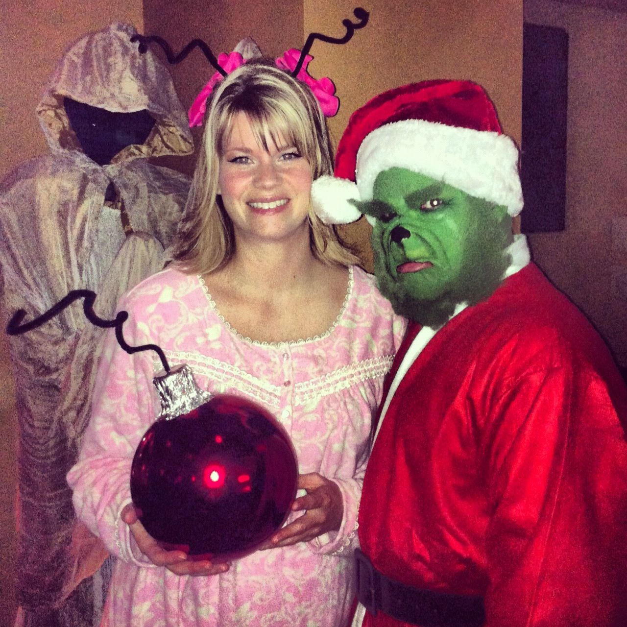 The Grinch & Cindy Lou Who!!!! Totally home made, totally awesome!!