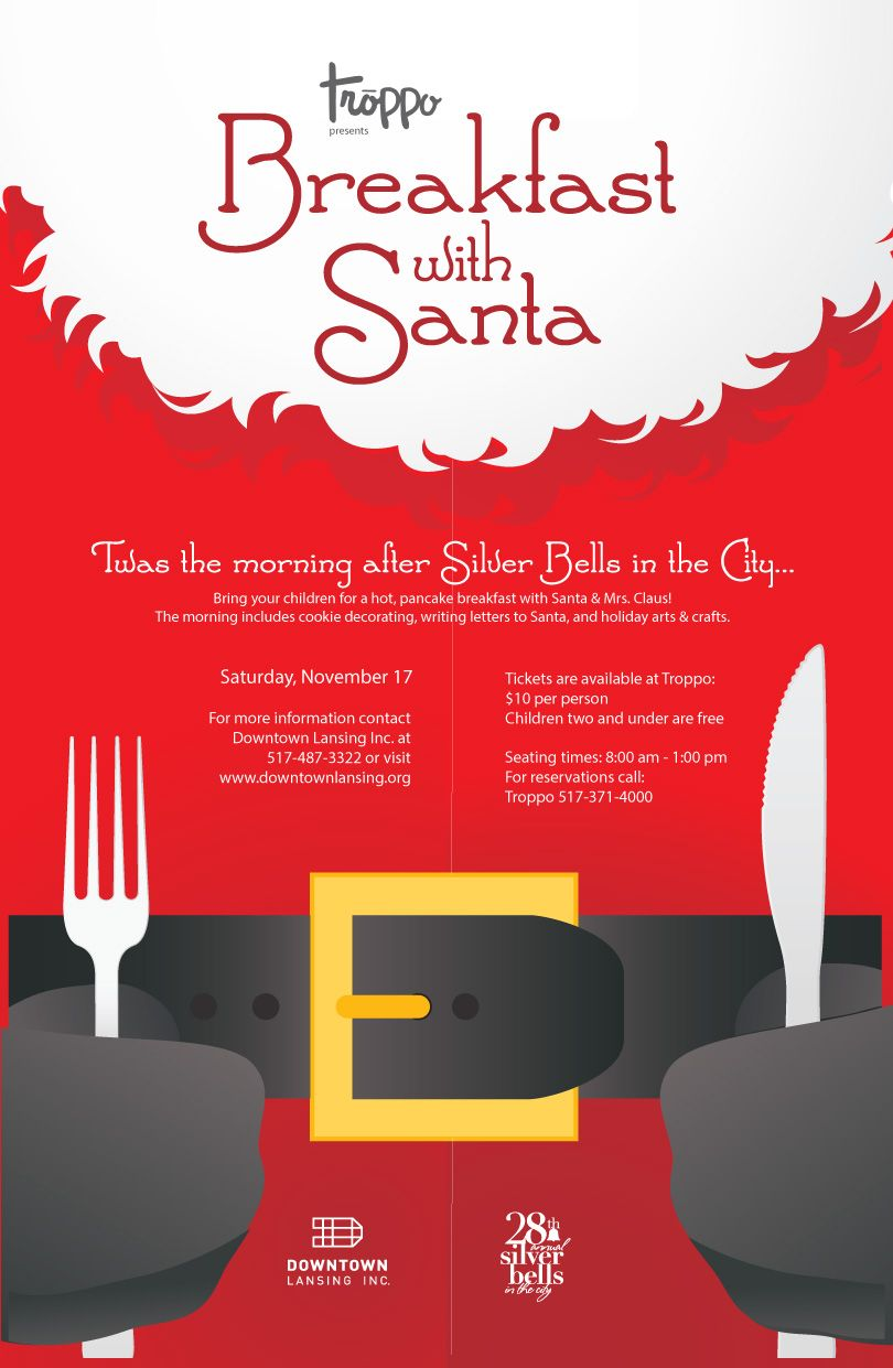 Breakfast With Santa Held At Troppo In Downtown Lansing