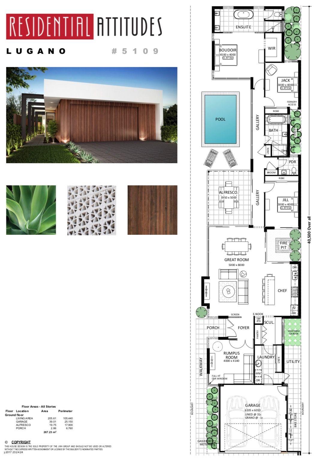 Pin By Bernard Jonney On Plan Maison Architectural Floor Plans Narrow House Plans Narrow House
