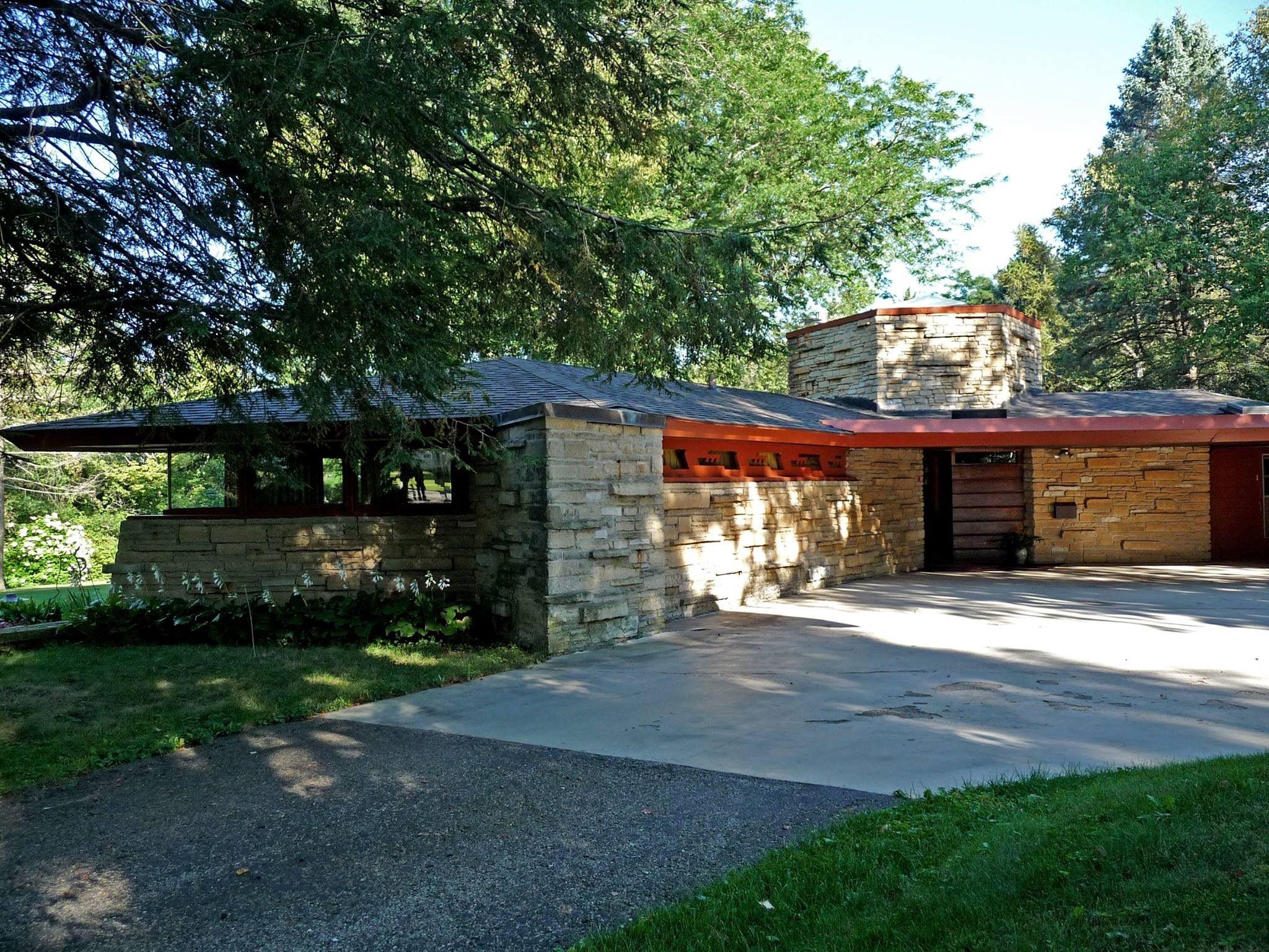Kinney House 1955 Lancaster Wisconsin Usonian Style Frank