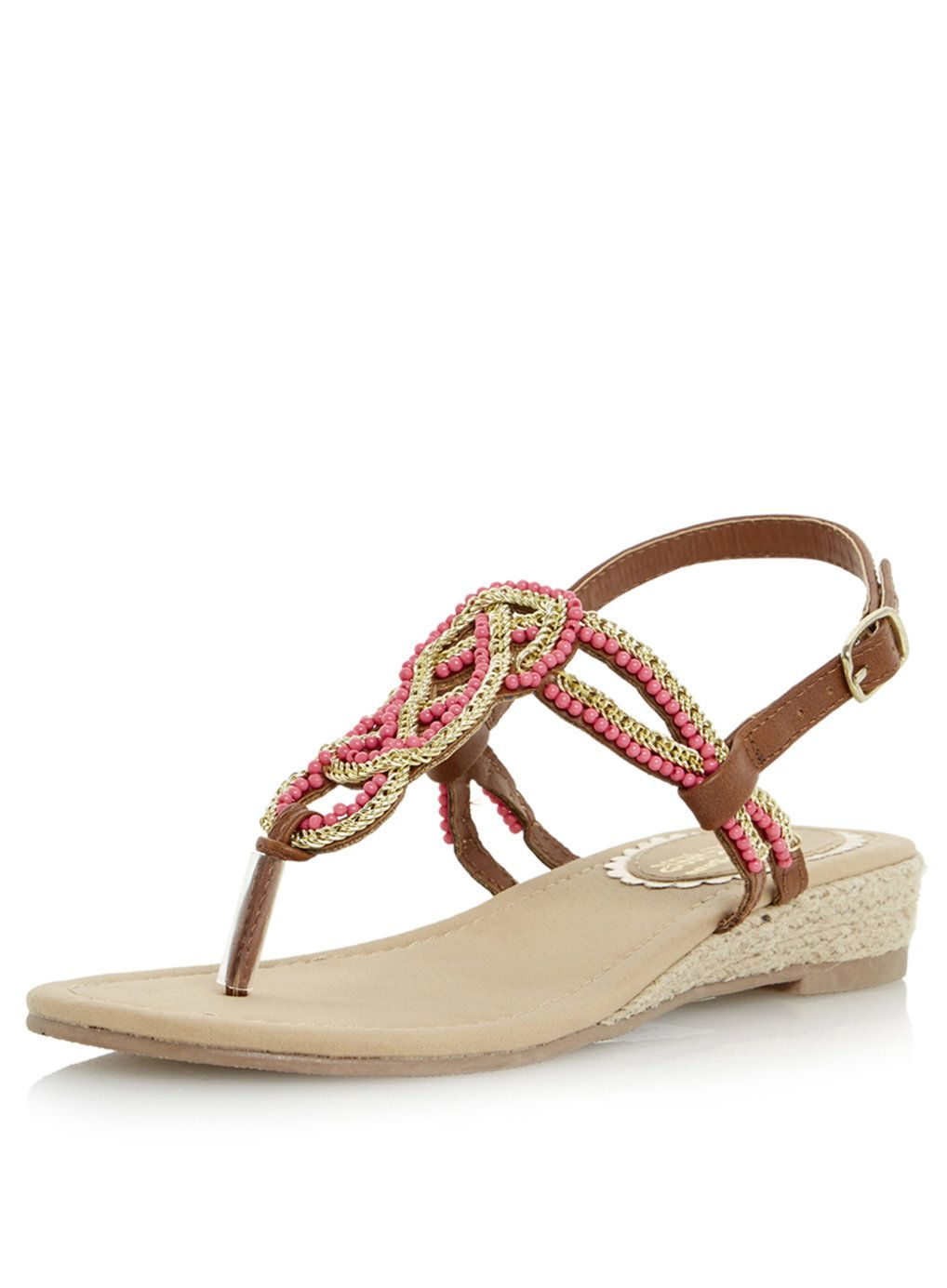 4f33e5312b25f5 Head Over Heels By Dune Niko Embellished Bead Sandal - Sandals - Shoes -  Dorothy Perkins