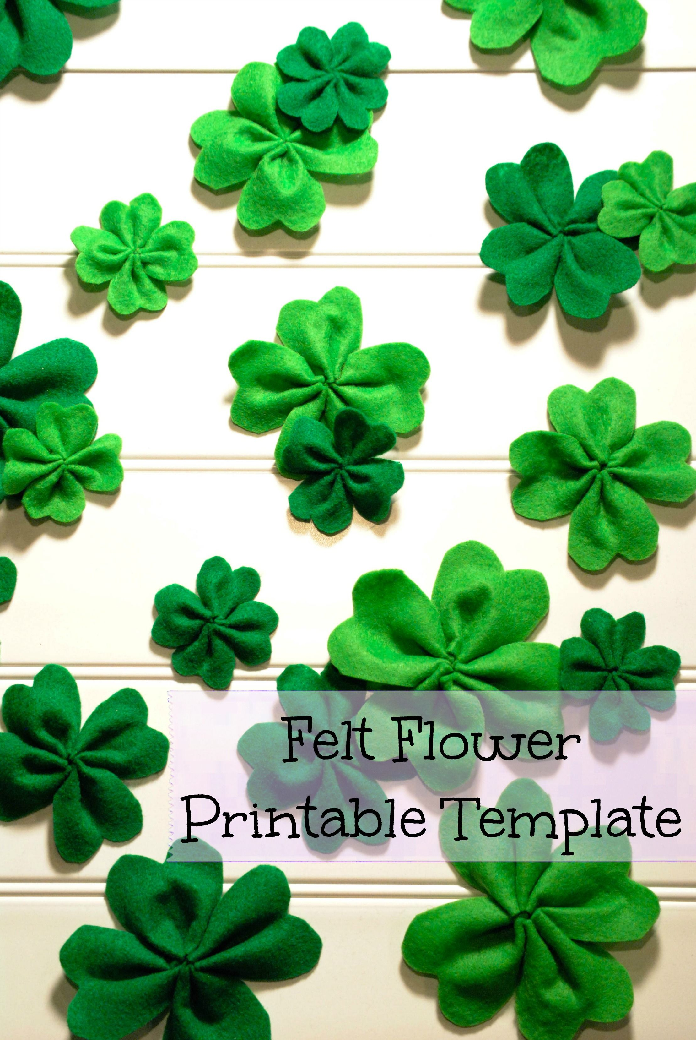 This Felt Shamrocks Are Perfect For St PatrickS Day Decorations