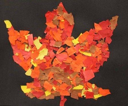 Torn Paper Leaf Art Classroom Pinterest Kindergarten