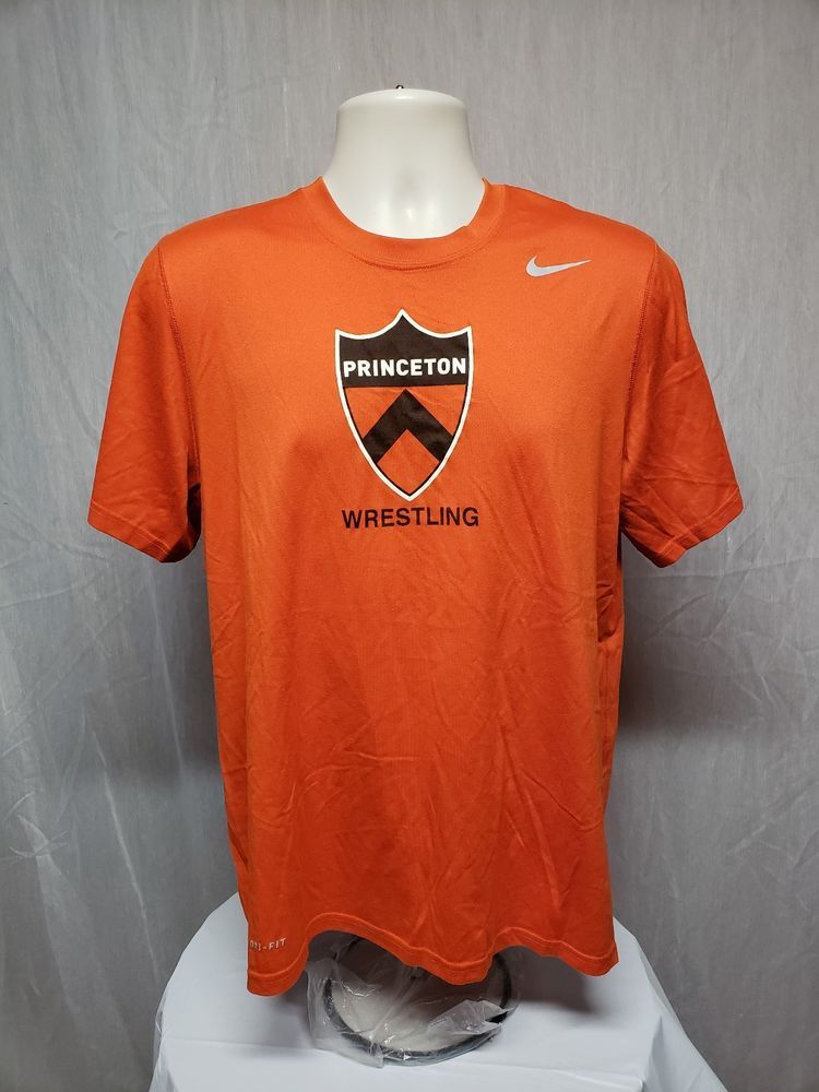 381370ba90a7 Nike Dri Fit Princeton University Wrestling Adult Medium Orange Jersey  Nike