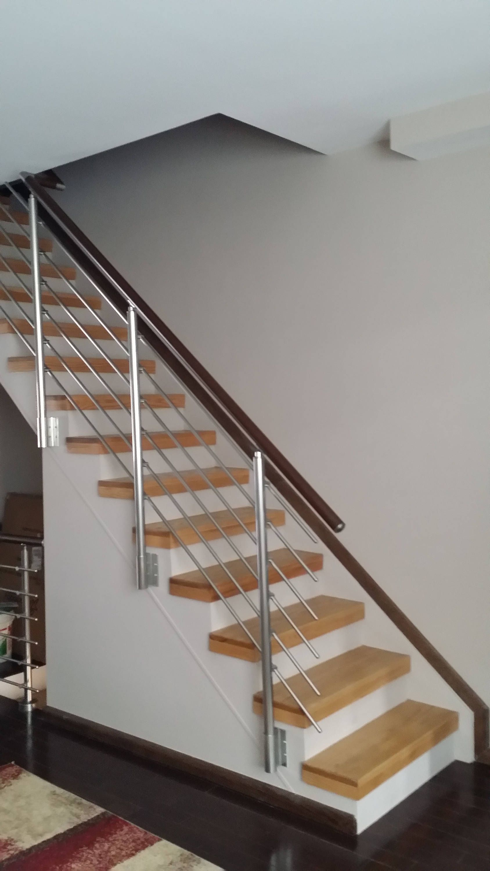 Modern Stairs Balcony Hand Rail Staircase Railing Kit - Aluminium Side Connected