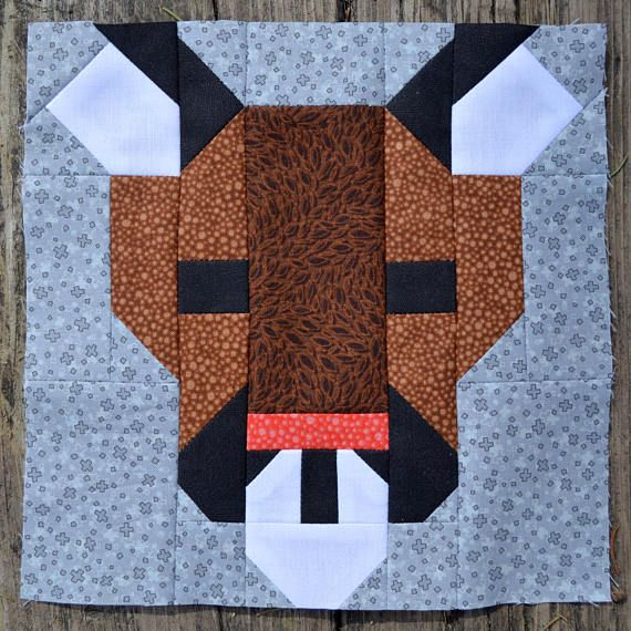 Cougar Quilt Block Pattern PDF Instant Download modern | Nähen ...