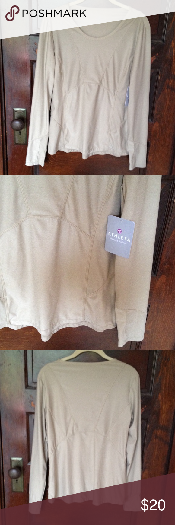 ATHLETA NWT Canyon Lands long sleeve top. ATHLETA NWT Canyon Lands long sleeve top.   Beige / ecru color. Athleta Tops Tees - Long Sleeve