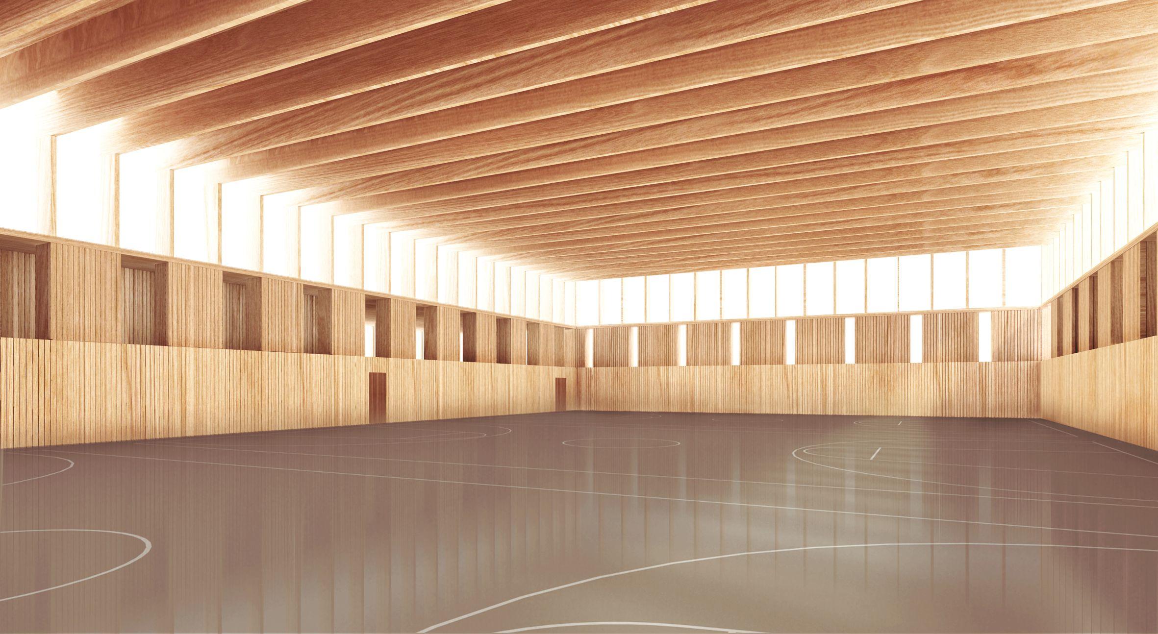 Turnhalle ruprecht architekten sport pinterest for Innenarchitektur studium graz