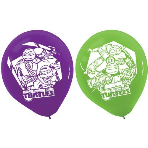 Tmnt Teenage Mutant Ninja Turles Balloons Latex Printed 12in 6ct for only $4.38 You save: $0.95 (18%)