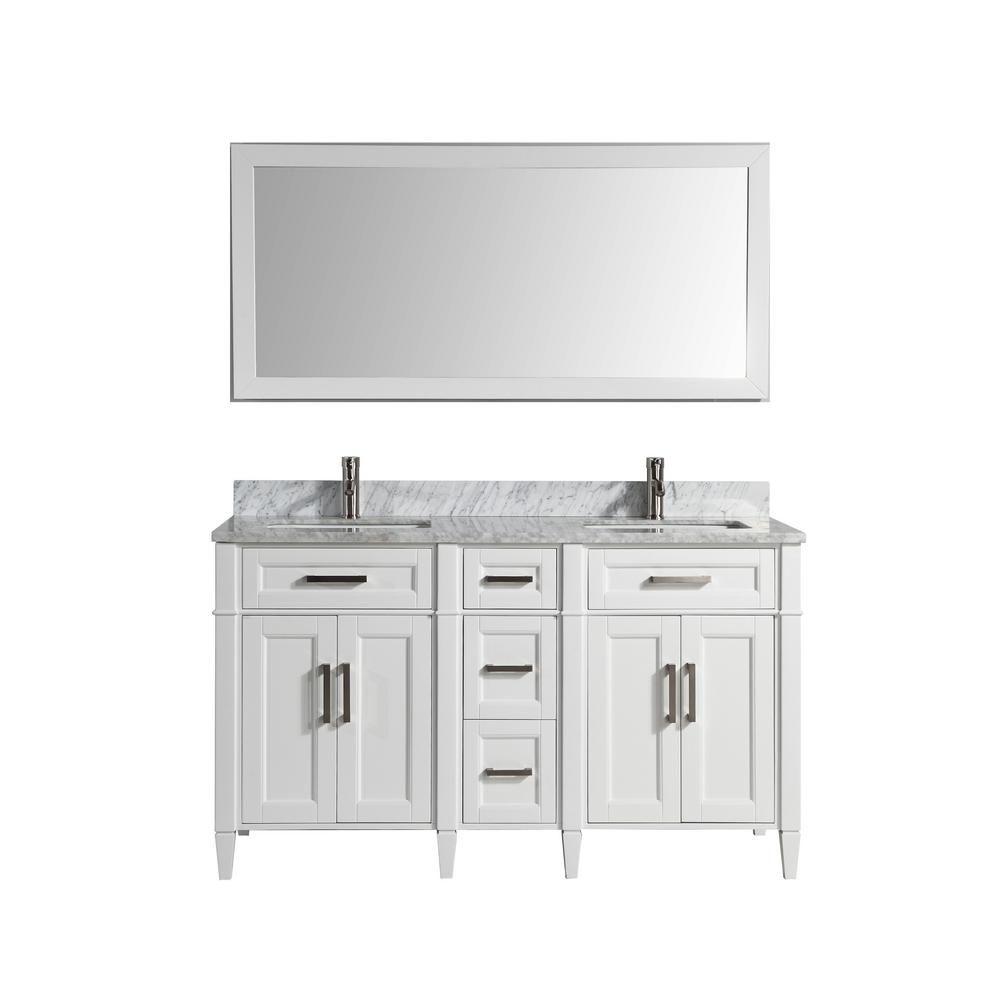 Vanity Art Savona 60 In W X 22 In D X 36 In H Bath Vanity In