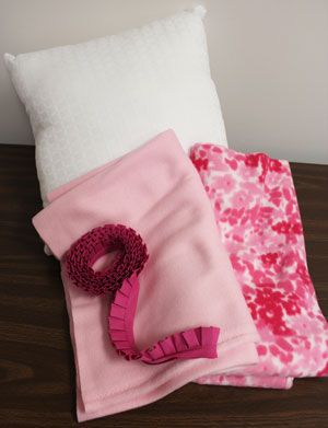 Pocket pillow pattern: Great for taking tablet to the ER