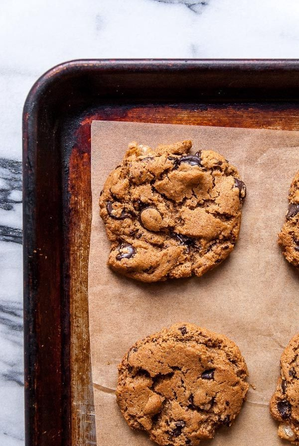 Ginger Maple Vegan Chocolate Chip Cookies | Heart