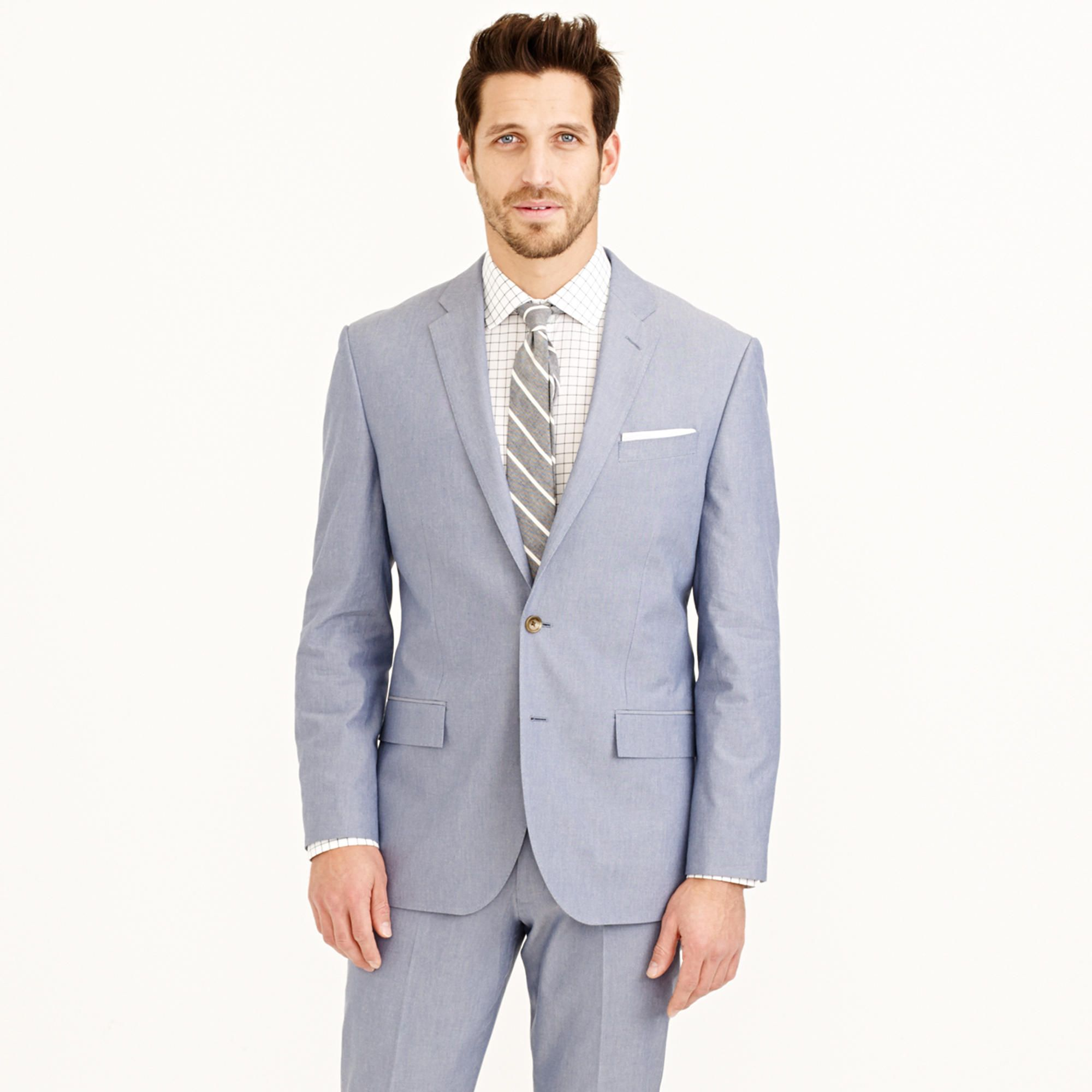 Crosby suit jacket in Italian cotton oxford cloth - Crosby Suit ...