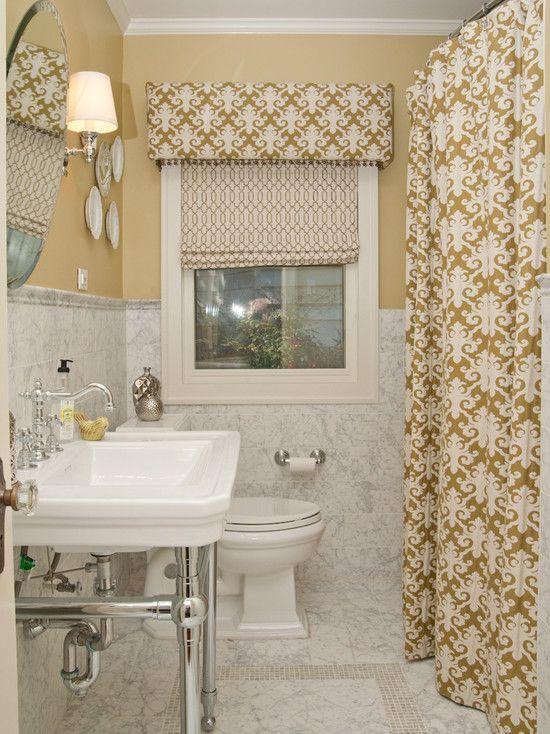 Beautiful Yellow Striped Shower Curtain The Roman Shade Shower