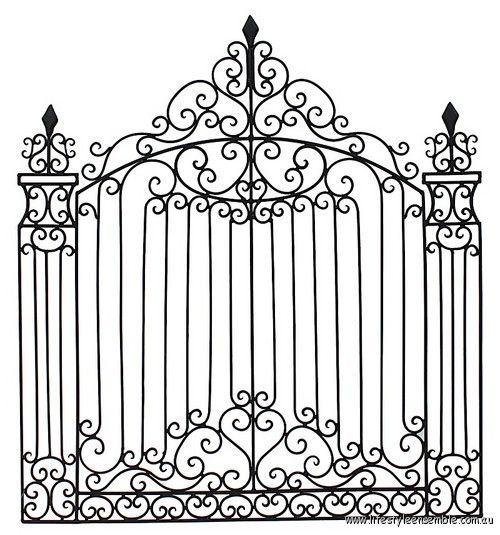 Stunning Wrought Iron Versailles Gate Wall Garden Deco Iron Gate