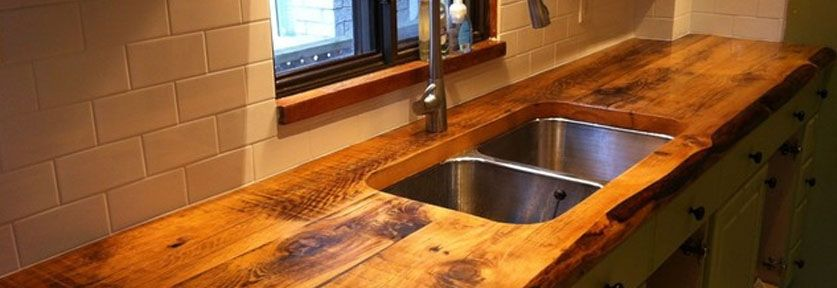 Designing With Reclaimed Wood Kitchen Bath Trends Wood Countertops Kitchen Kitchen Countertops Pictures Reclaimed Wood Kitchen