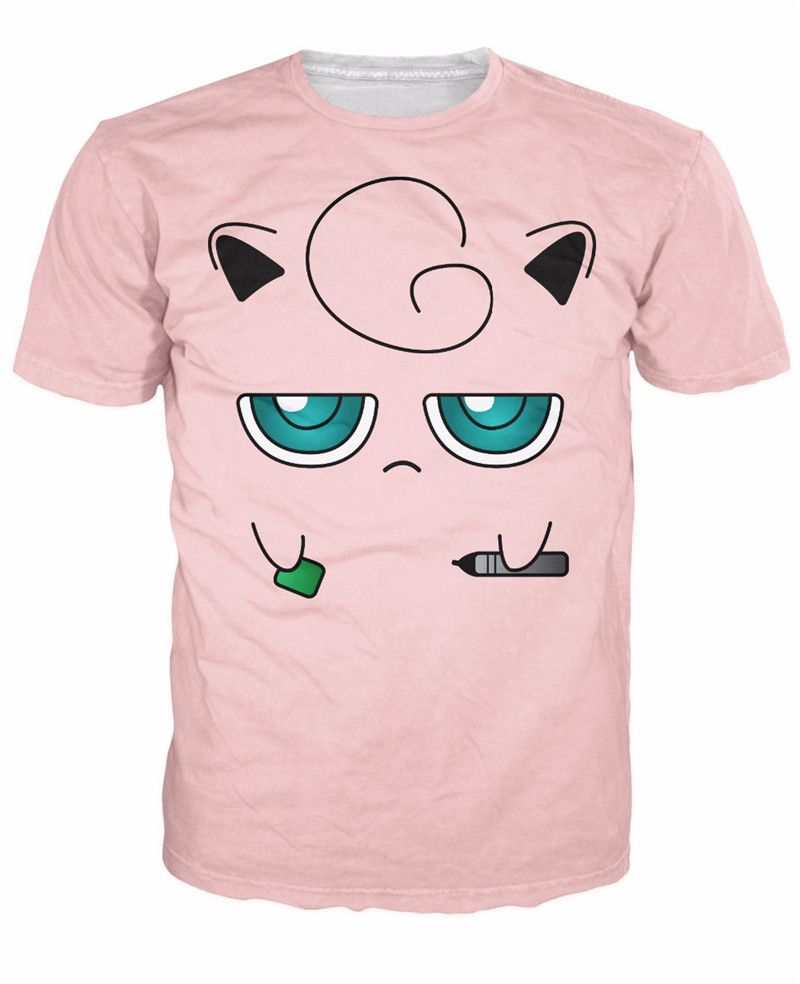 5caa777c58c49 Jigglypuff Face T-Shirt Pokemon Characters t shirt Summer style fashion  clothing tees tops women