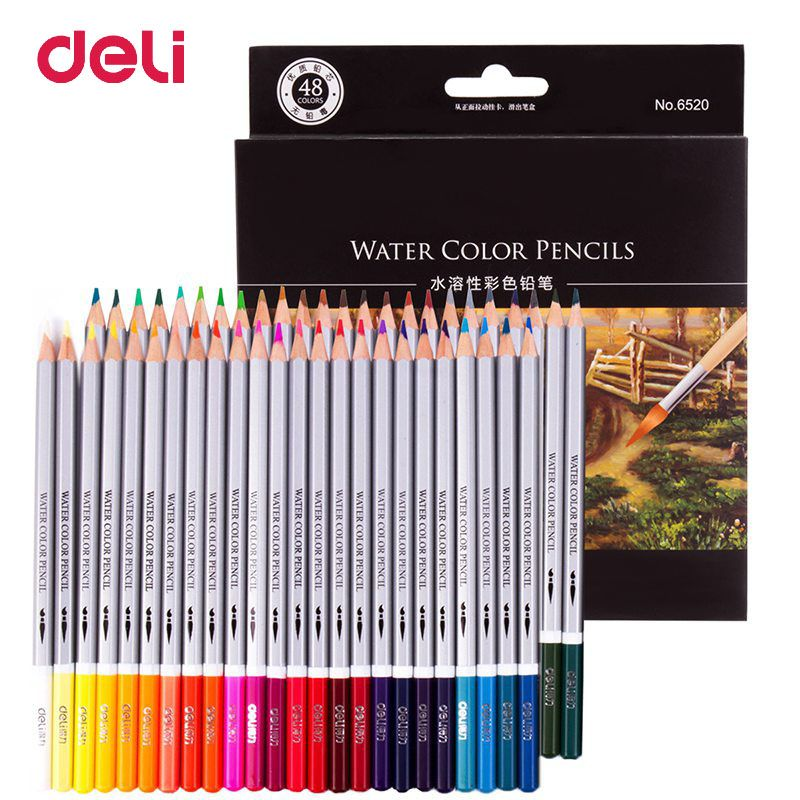 Deli Colored Pencil 24 36 48 72 Artist Colour Set Watercolor