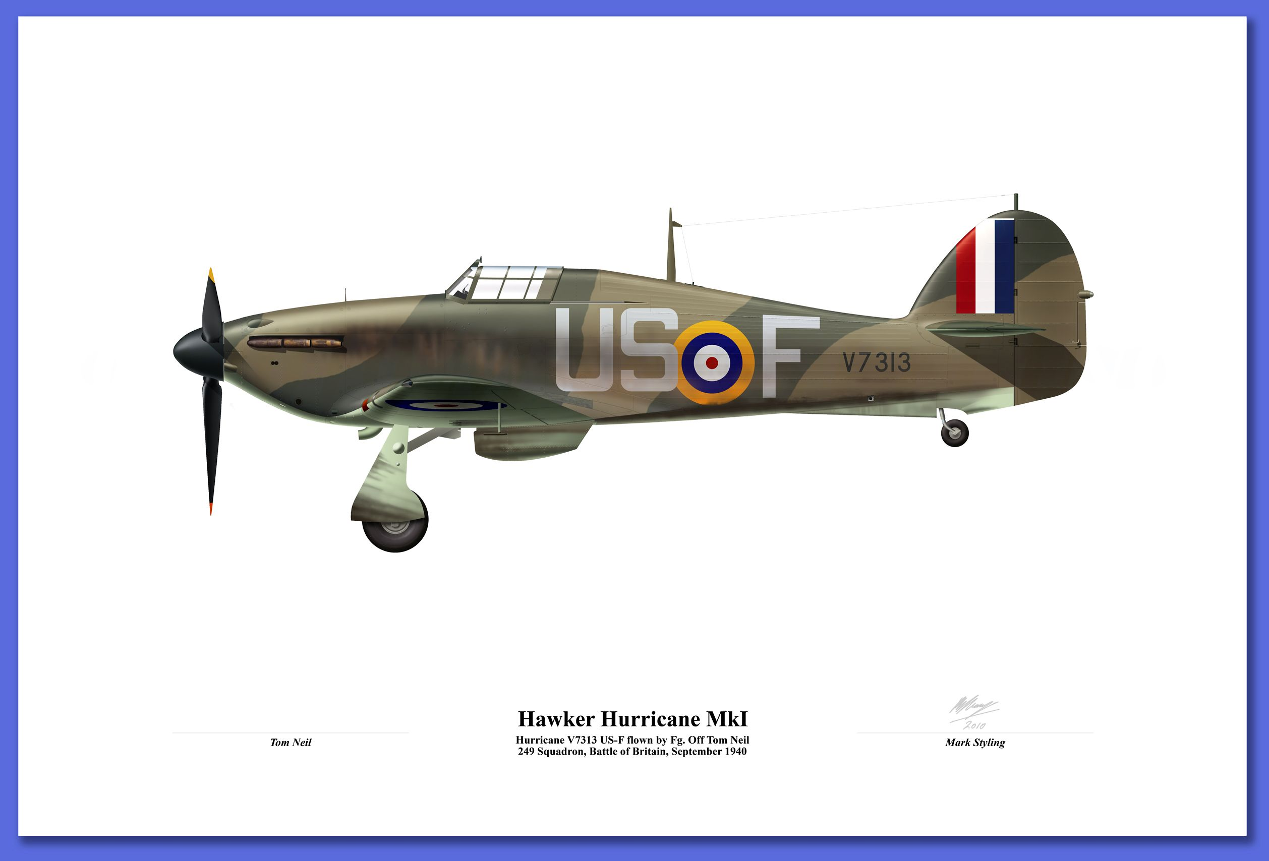hawker hurricane mki 249sq battle of britain mark styling