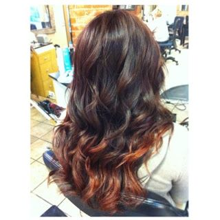 brown and red hair