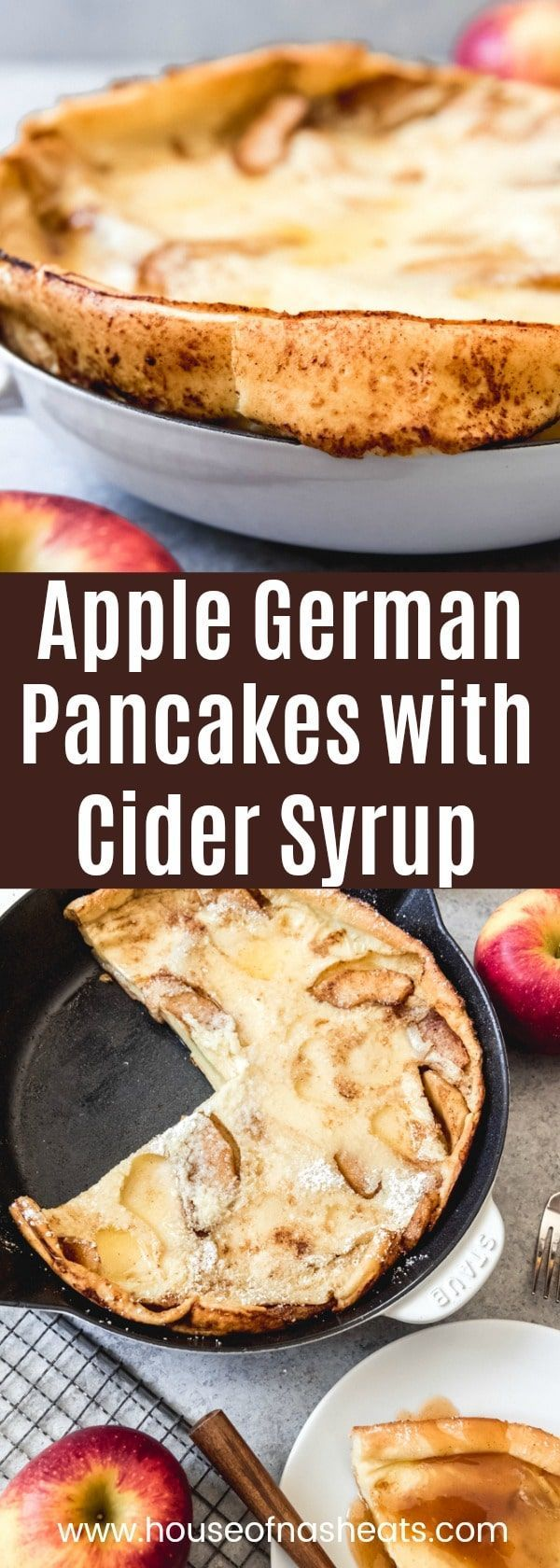 German Apple Pancakes with Cider Syrup   - Bless me diet for I have SINNED! -