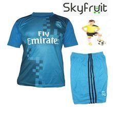 pretty nice e5160 177c5 Junior Real Madrid Kids Ronaldo Blue FootBall Kit | sea view ...