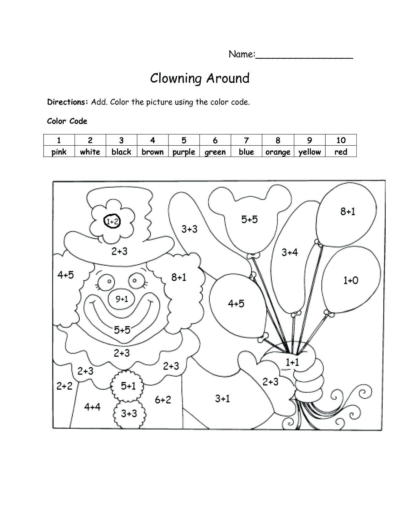 Coloring Worksheets For Grade 1