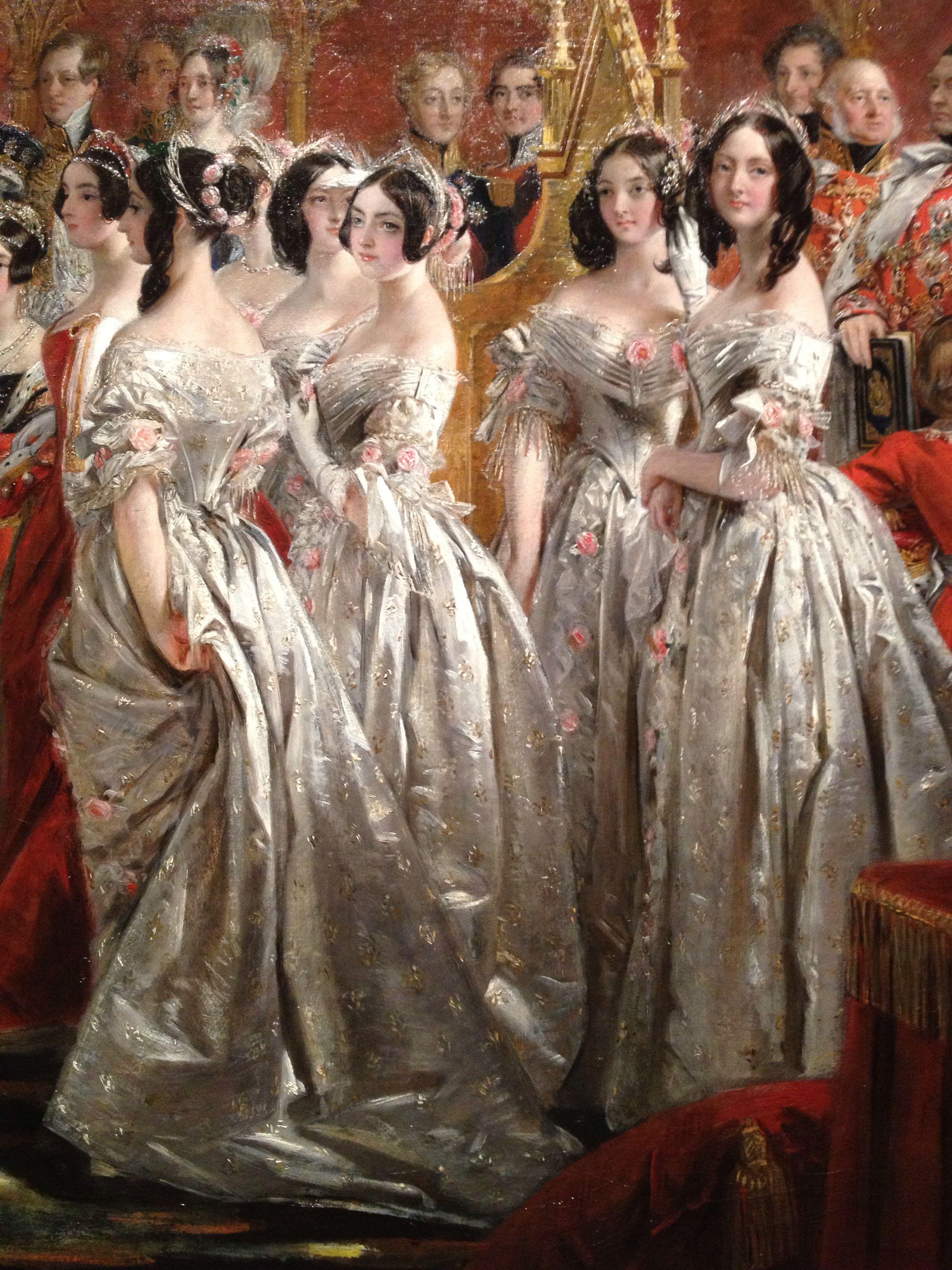 Hofdamen bei Königin Victorias Krönung, Ausschnitt des Gemäldes ...