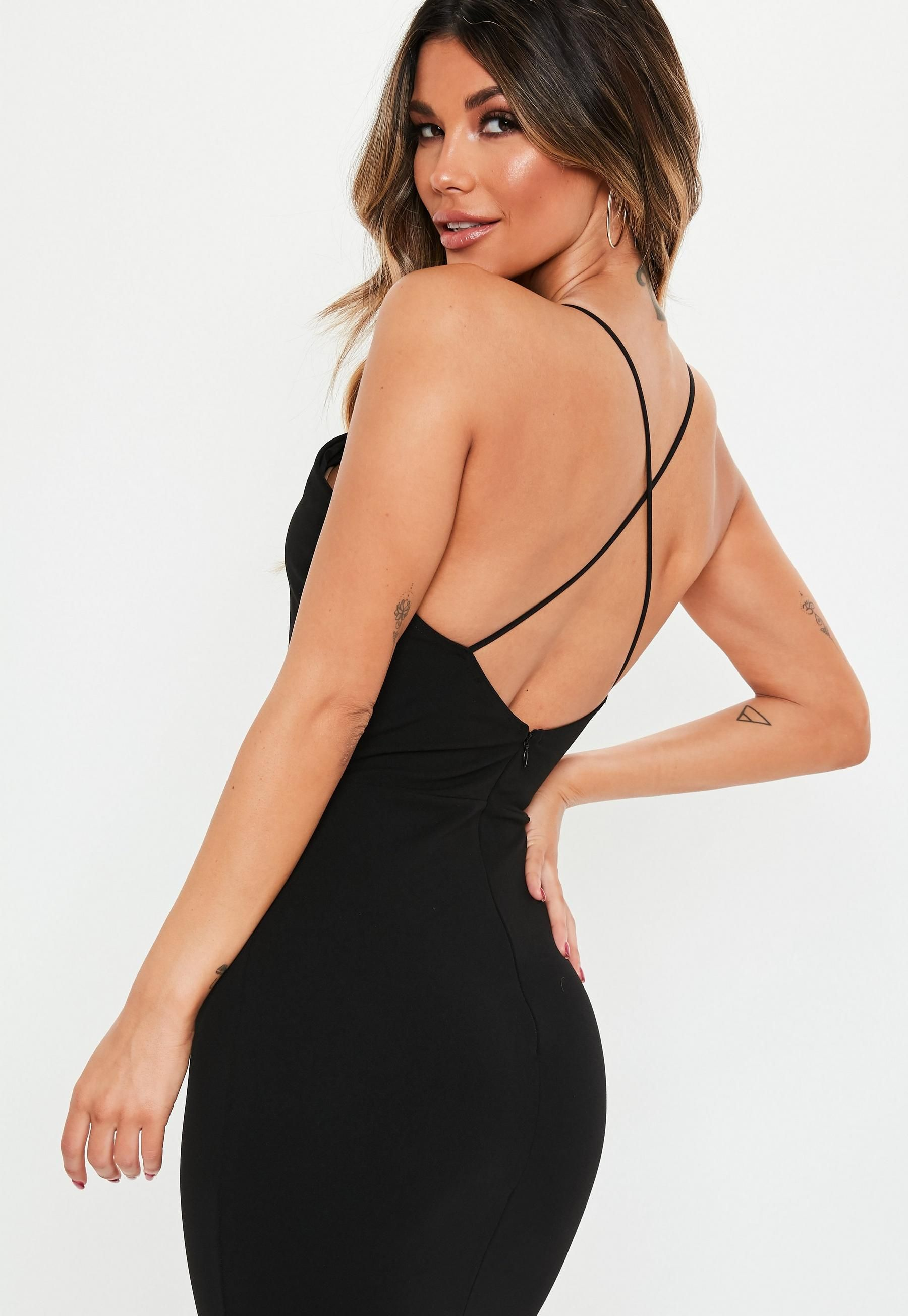 Black Cross Back Maxi Dress Missguided Dresses Trending Dresses Maxi Dress [ 2608 x 1800 Pixel ]