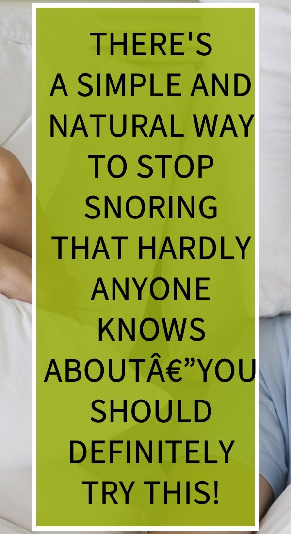Photo of There's a Simple And Natural Way To Stop Snoring That Hardly Anyone Knows Abou…