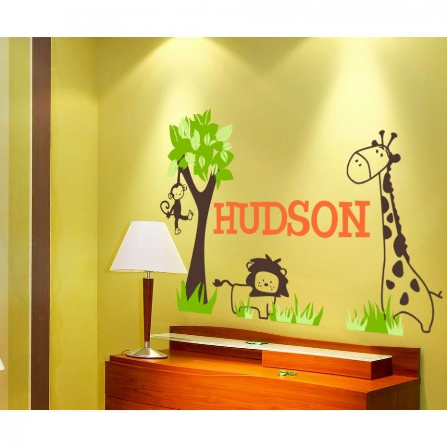 Alphabet Garden Designs It\'s a Jungle Out There Wall Decal ...
