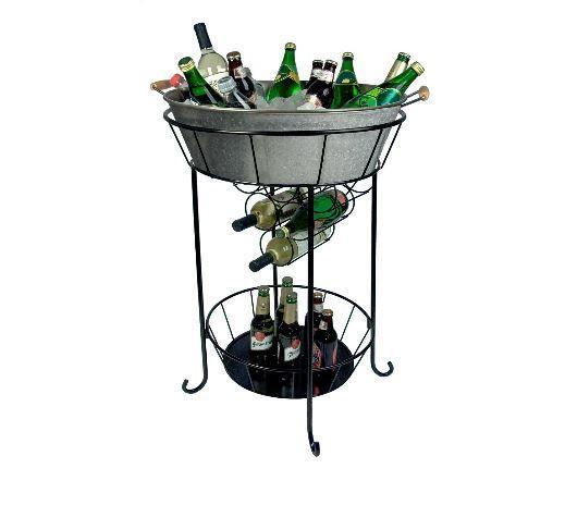 Ice Bucket Stand Chiller Wine Rack 2 Tier Bucket Rack Outdoor Patio Party  Bar #Artland
