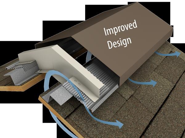 New Improved Design Hi Perf Ridge Vent Slope To Slope Shingled Version Metal Roof Vents Ridge Vent Roof Design