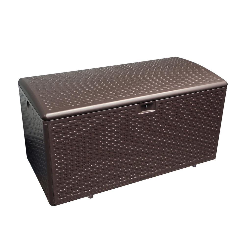 Plastic Development Group 120 Gal Java Storage Deck Box Deck
