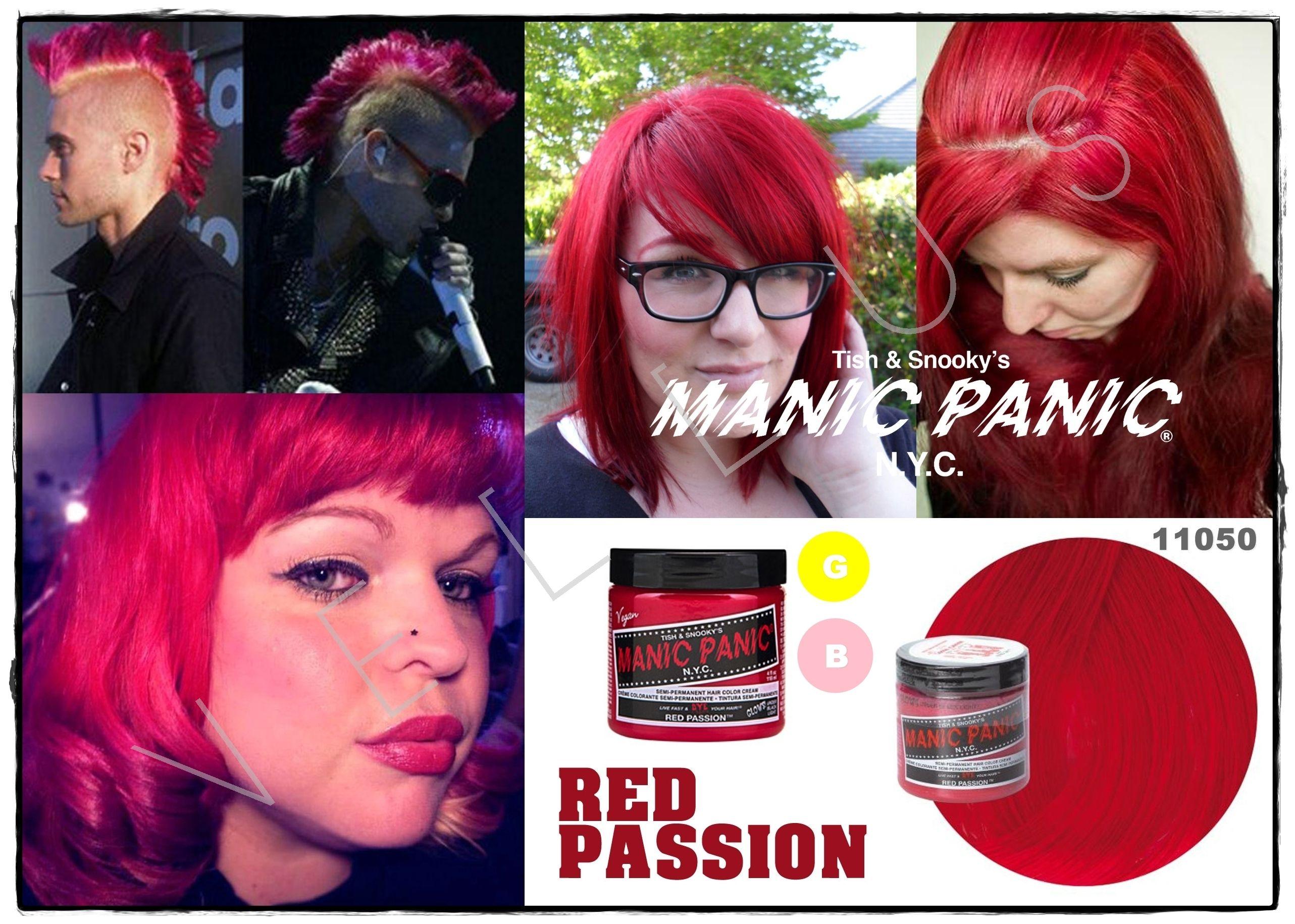 Manic Panic Classic Red Passion Vellus Hair Studio 83a Tanjong Pagar Road S 088504 Tel 62246566 Hair Studio Vellus Hair Hair Color