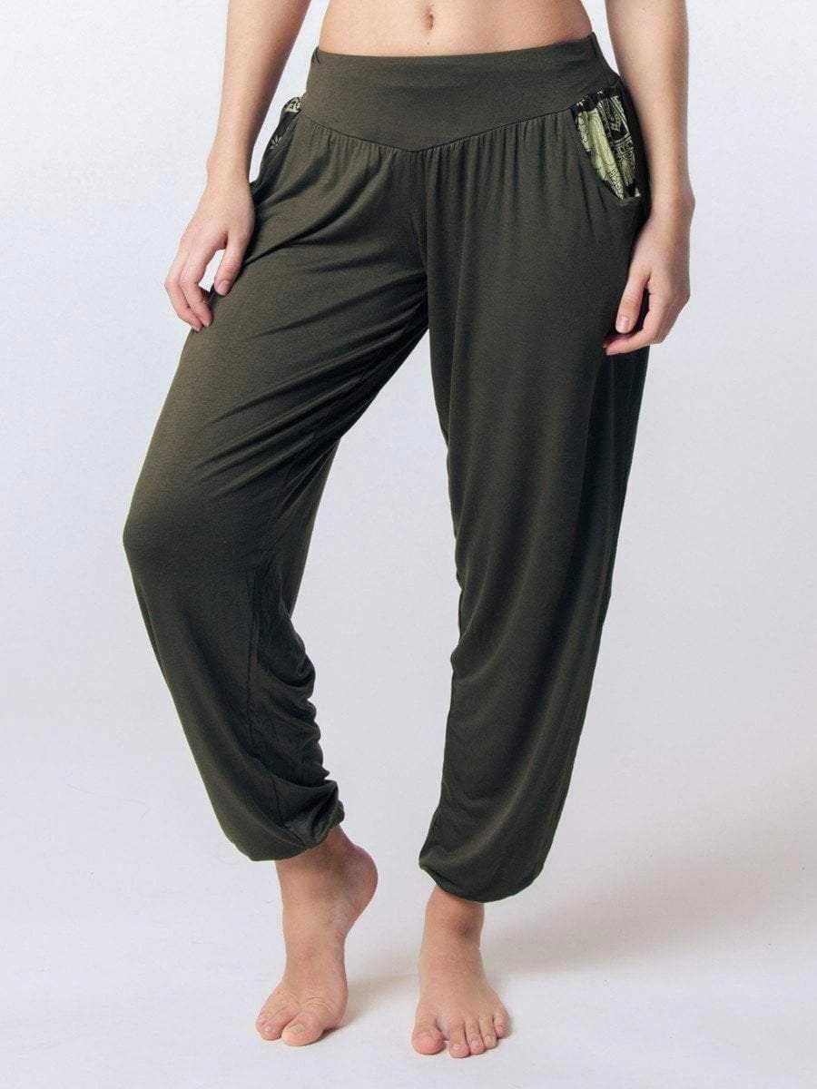 0df3563e136e Women s Kihari Olive Yoga Pants - The Elephant Pants  yogapants ...