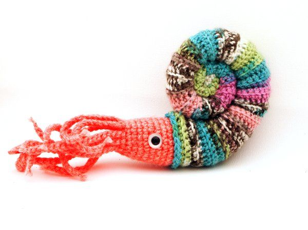 Pretty Shell Crochet Amigurumi Ammonite Plush by kaelby.deviantart ...