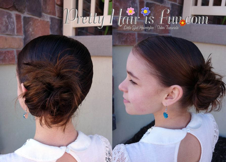 Pretty Hair is Fun: How to do a Low Side Bun Video Tutorial #lowsidebuns