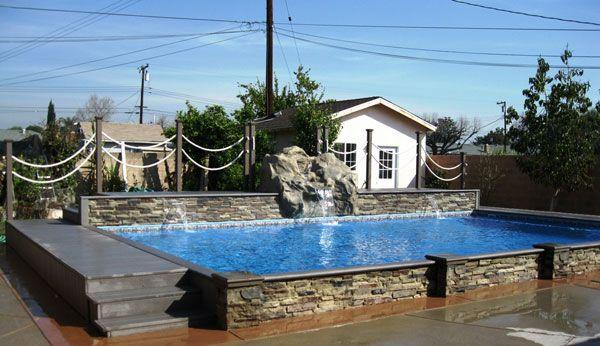 Affordable In Ground Vinyl Lined Pools Islander Pools In Ground Pools Backyard Pool Landscaping Islander Pools