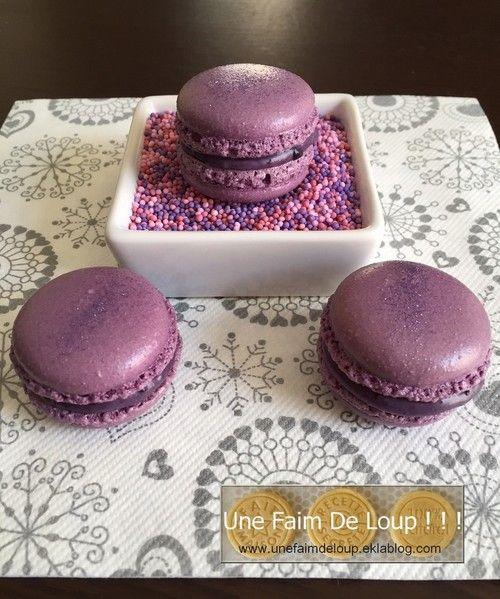 Macarons aux myrtilles #macaronrecette