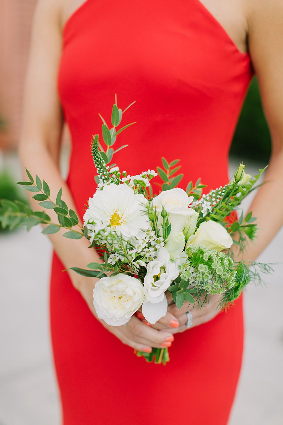 Radiant Pops of Red For the Win With This Brooklyn Bash | Bridesmaid ...