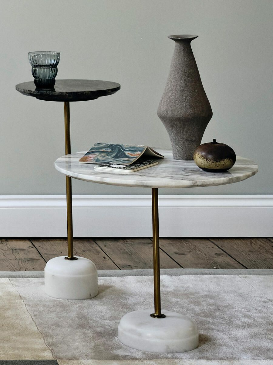 Soho Home Fleet Side Table Low Fantasy Brown Marble Large In 2021 White Marble Side Table Side Table Marble Top Side Table [ 1200 x 900 Pixel ]