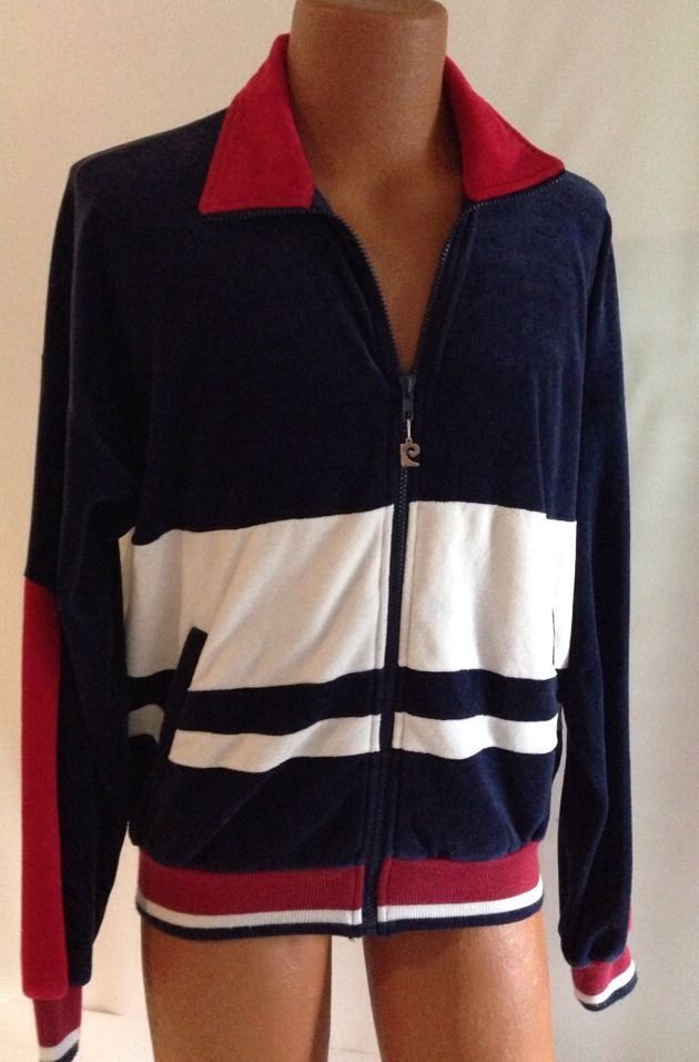 Vintage Pierre Cardin Track Jacket M Mens Red White Blue Warmup Sweats Repaired Redjacket Vintagetrackjacket Red Jacket Vintage Style Outfits Vintage Outfits