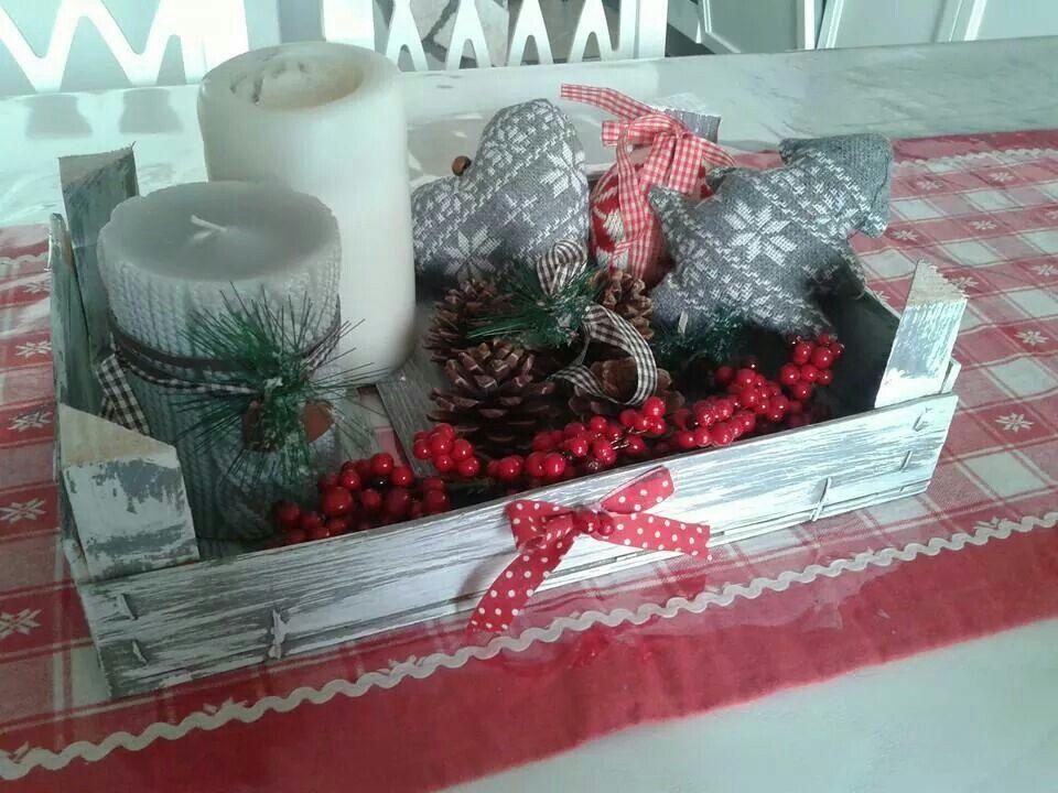 cassetta della frutta decorata per il natale christmas