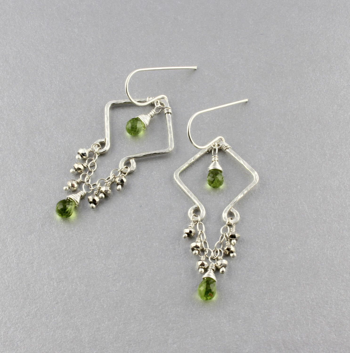 Argentium sterling silver peridot earrings small scale peridot argentium sterling silver peridot earrings small scale peridot chandelier earrings dangle earrings sale 42 dollars by mozeypictures Choice Image