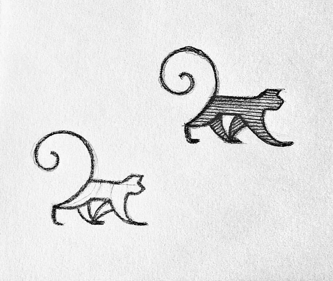 Monkey Sketch Animal Logo Nature Drawing Monkey Logo Design