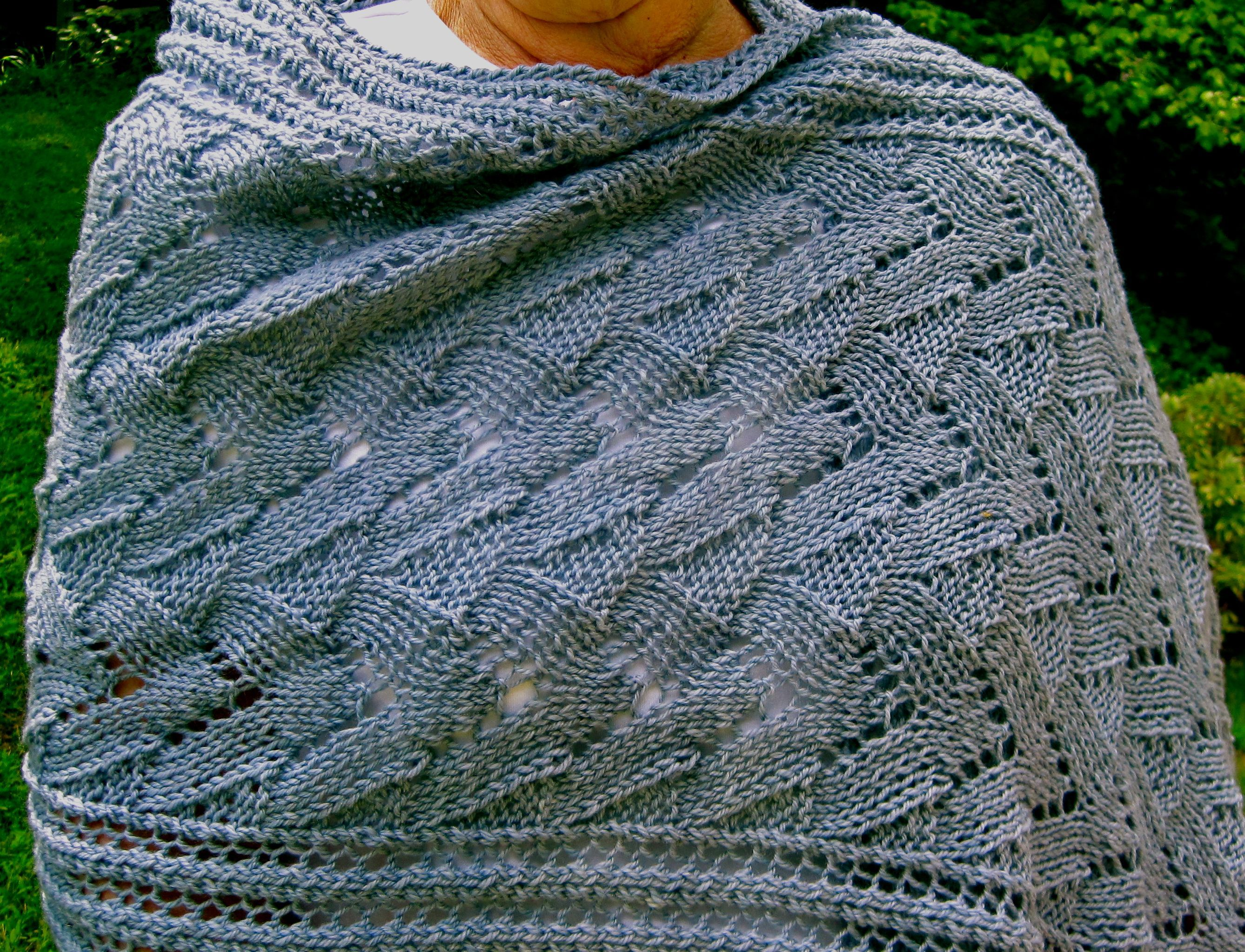 Easy Knitting Lace Patterns: Easy lace mesh scarf for beginners ox ...